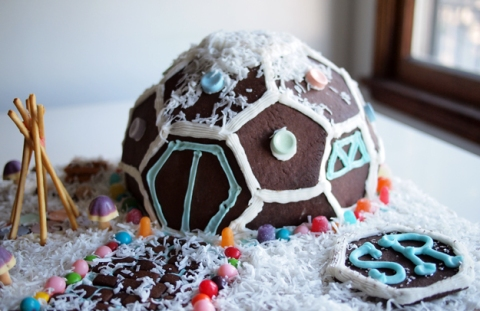 gingerbread dome home