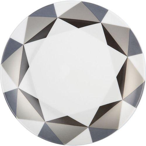 diamond quartz plate in dinnerware | CB2